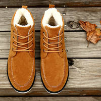 Shoes men winter 2016 new Korean version of the youth trend plus cashmere warm men's snow boots high to help cotton shoes men's shoes