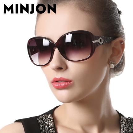 名匠偏光驾驶太阳镜女士优雅水钻潮时尚大框眼镜复古墨镜