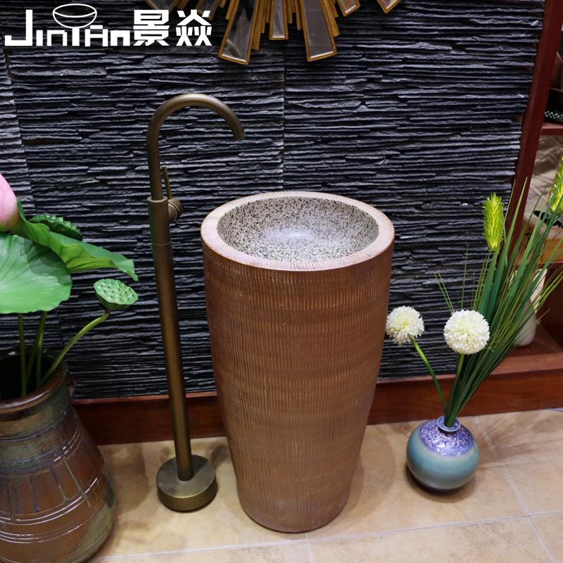 景焱陶瓷一体立柱盆jy1058