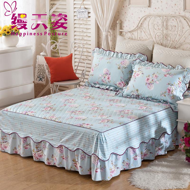 缦天姿全棉夹棉床裙床罩MTZ-cq16042401