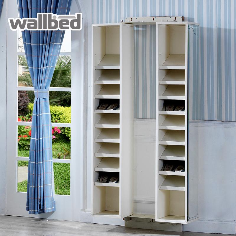 wallbed试衣镜欧式多功能小户型壁挂镜