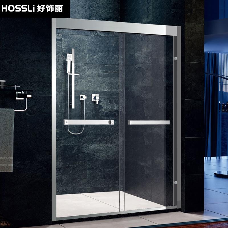 好饰丽304不锈钢一字形淋浴房HSL-3036