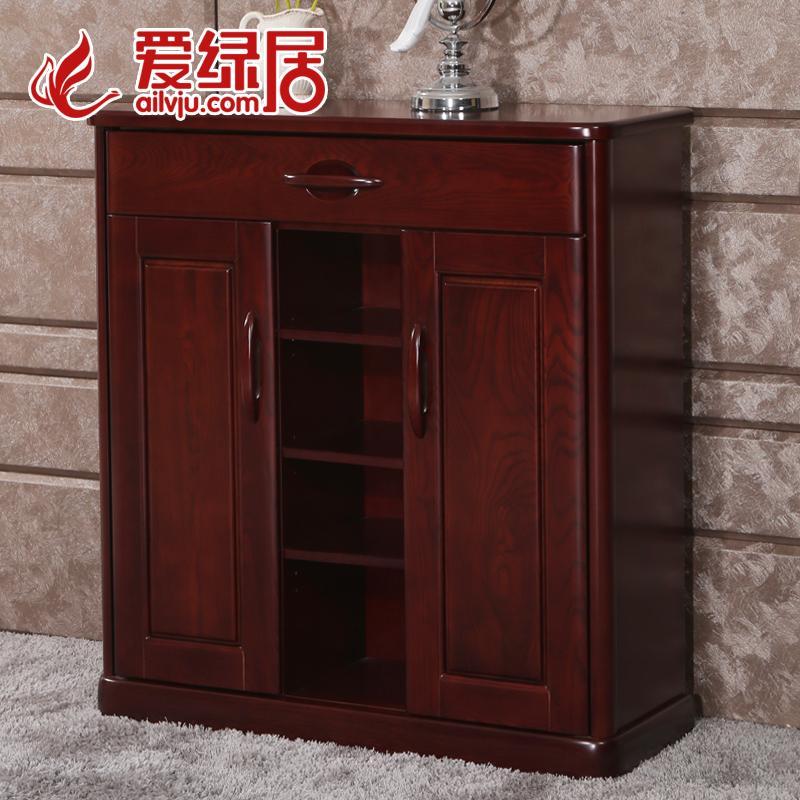 爱绿居中式水曲柳鞋柜SX 1036