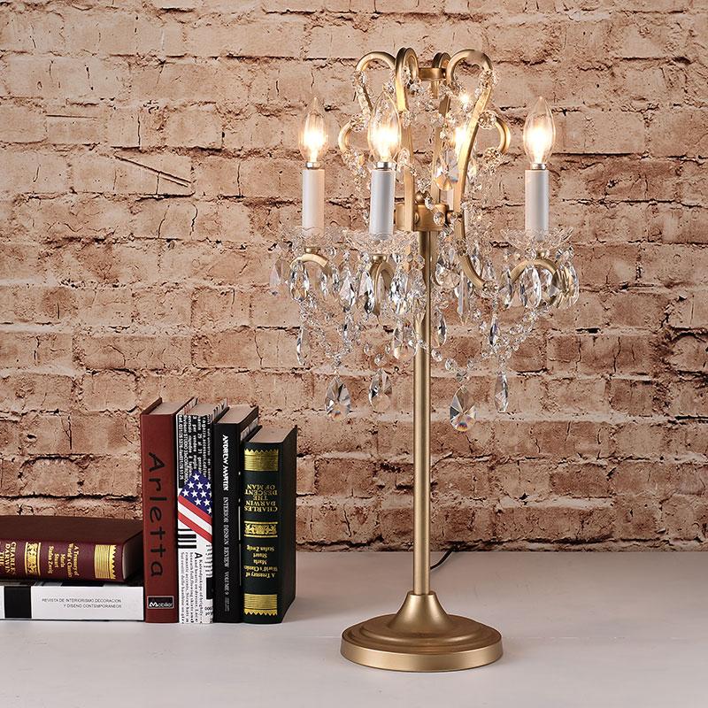 佰房法式水晶美式装饰台灯A14