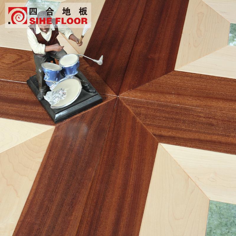 四合拼花多层实木复合硬槭木地板607000001740001