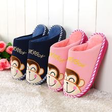 冬季棉拖鞋 居家居包跟防滑毛毛鞋 月子鞋