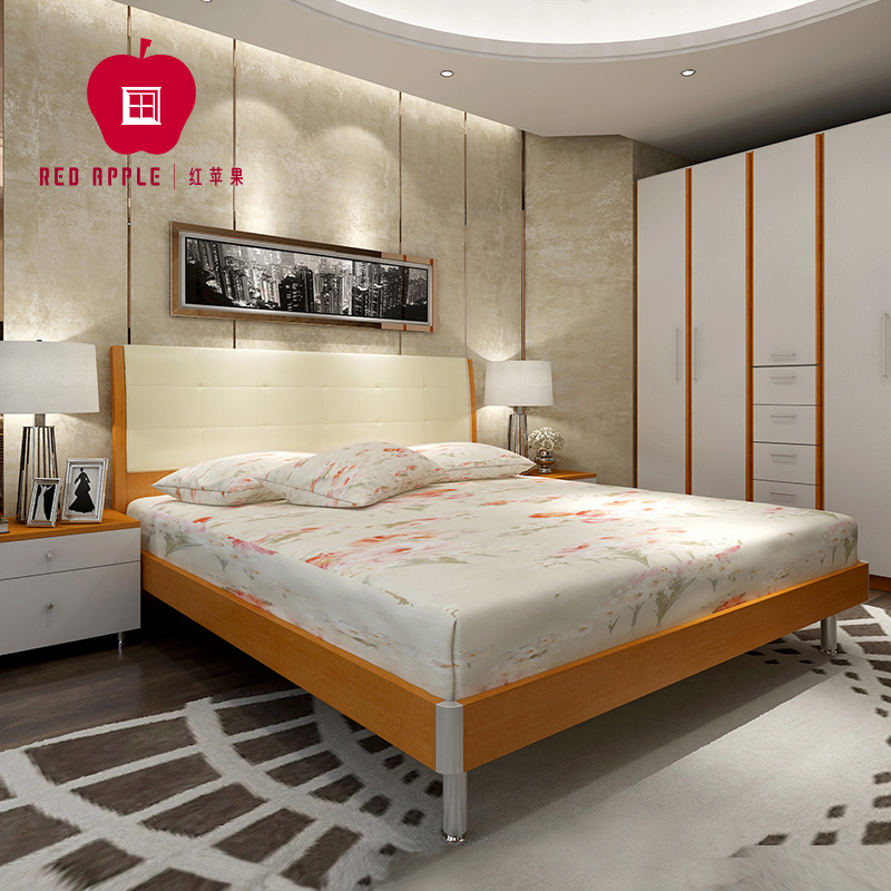 Apple Furniture Fashion Modern Minimalist M Double Plate - Red apple bedroom furniture