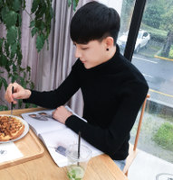 男士修身打底衫高领毛衣保暖针织衫紧身长袖韩版冬季加厚加绒男装