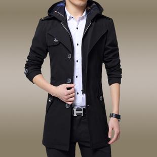 秋冬款男士风衣男中长款外套