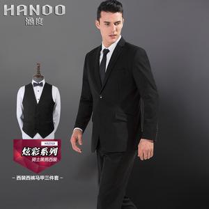 MS323西装男士套装结婚婚庆宴会韩版三件套