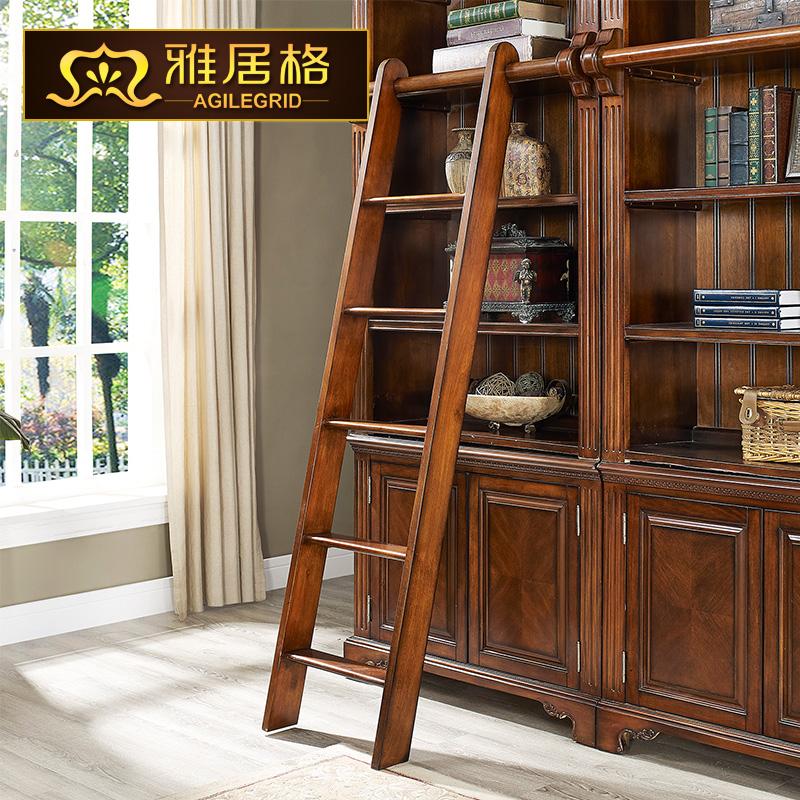 雅居格美式实木书房书柜m01