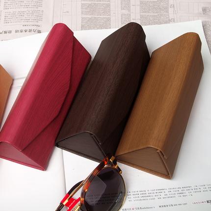 太阳镜折叠眼镜盒便携墨镜盒木纹复古男女近视眼镜盒