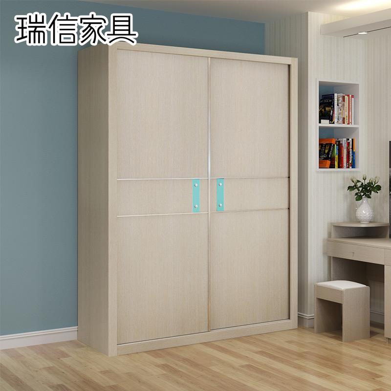 瑞信家具推拉门衣柜两门衣柜移门YG112