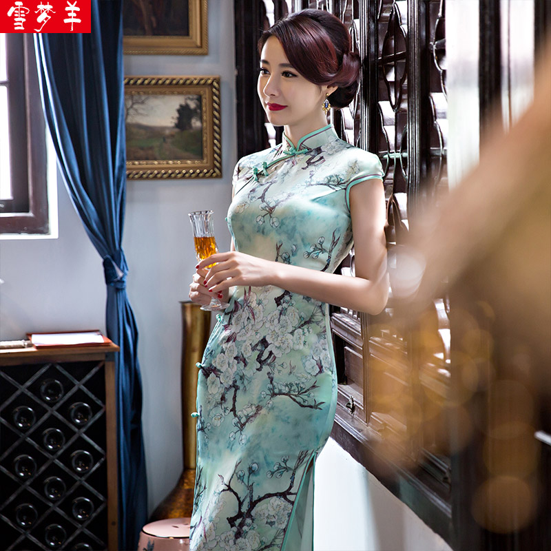 Cheongsam dress Snow dream sheep xmy8368 2016