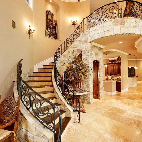楼尚楼梯loft弧形梯楼梯铁艺015011302
