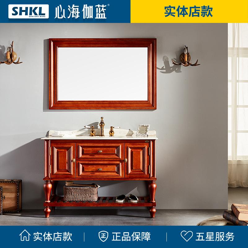 心海伽蓝美式柜橡胶木柜822096