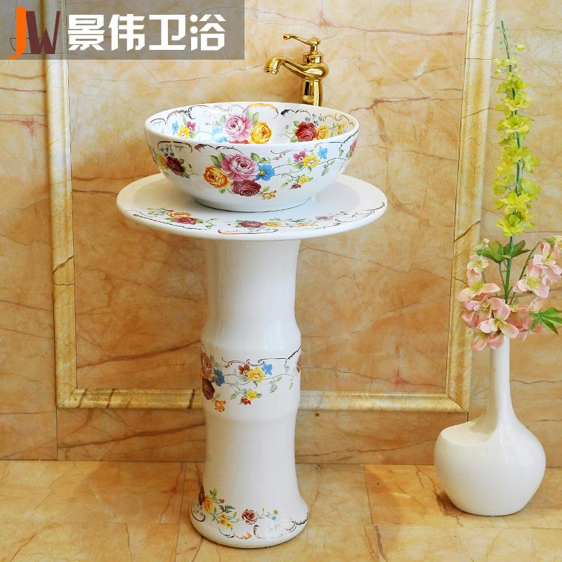 景伟景德镇陶瓷立柱盆JW-1003
