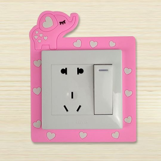 Luminous switch wall stickers protective cover Korean modern ...