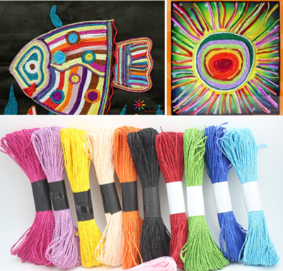 50米纸绳2mm双股 粘贴画儿童diy手工编织创意材料幼儿园吊饰绳