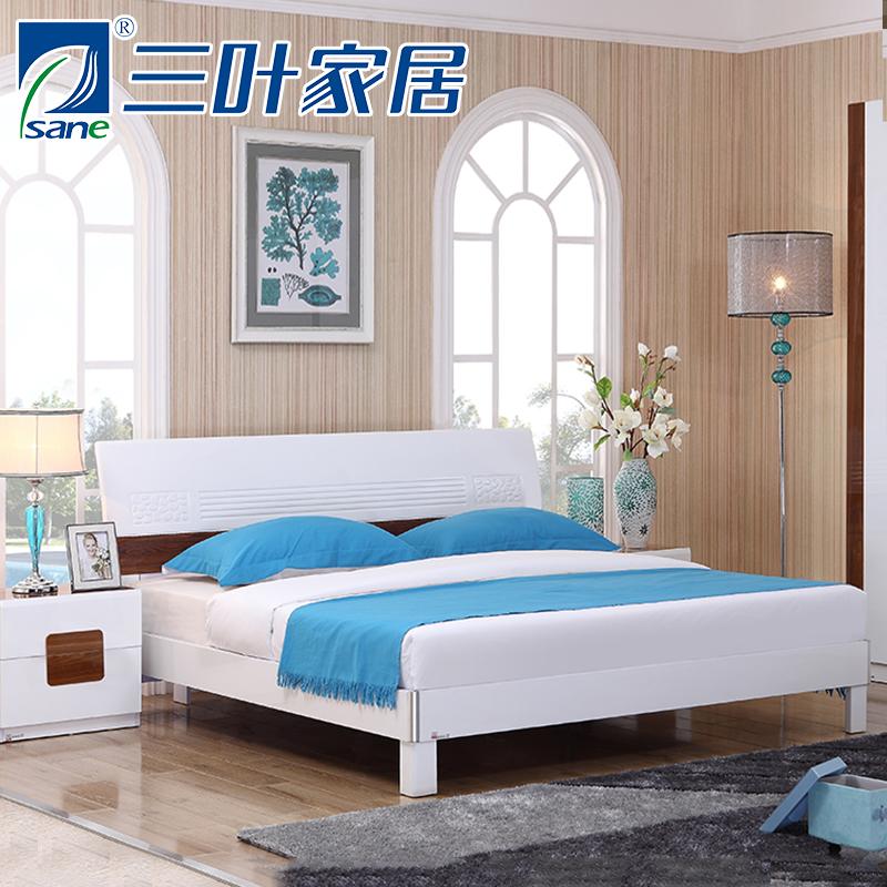三叶家私 卧室成套家具 组合 衣柜 床和衣柜组合家具套装简约现代 上海