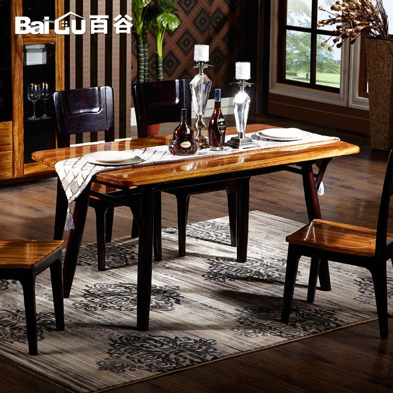 百谷全实木餐桌A54