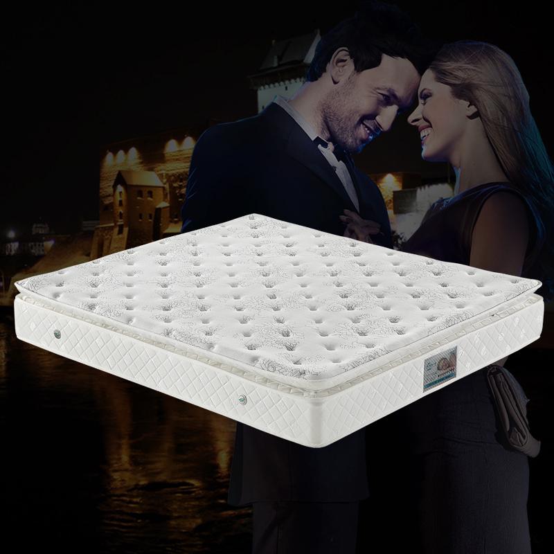 都市一号天然乳胶床垫1.8米席梦思弹簧双面床垫1.5米白色