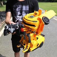 超大金刚变形遥控车机器人大黄蜂儿童变形玩具男孩充电动遥控汽车