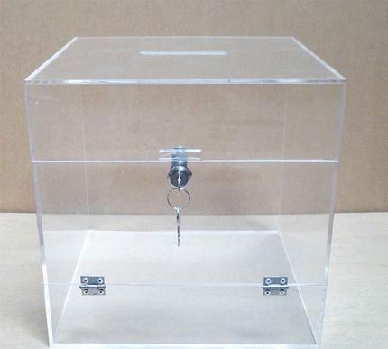 亚克力投票箱,亚克力盒,带锁盒子,可定制设计透明亚克力箱