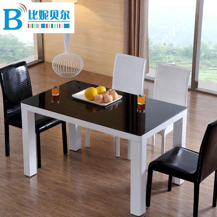 比妮贝尔钢化玻璃餐桌椅301