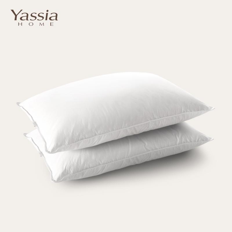 雅西亚白鹅毛羽绒枕YC018