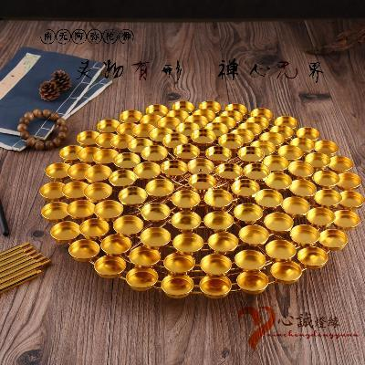 七层梅花酥油灯座莲花灯108盏酥油灯架佛灯供灯佛教用品图片