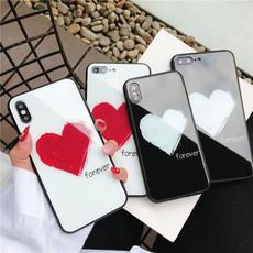 苹果x手机壳女款玻璃创意iphone7plus情侣个性潮牌6s网红防摔8X男