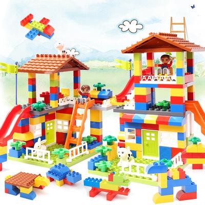 兼容乐高儿童积木玩具宝宝益智拼装城市汽车大颗粒城堡拼插1-6岁