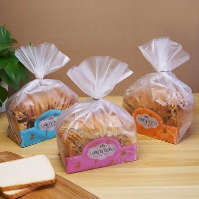450克吐司袋磨砂半透明面包包装袋烘焙点心餐包塑料食品袋子100个图片