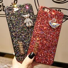 闪粉小熊苹果x手机壳iphone6s女款7plus水钻奢华8p八网红明星同款