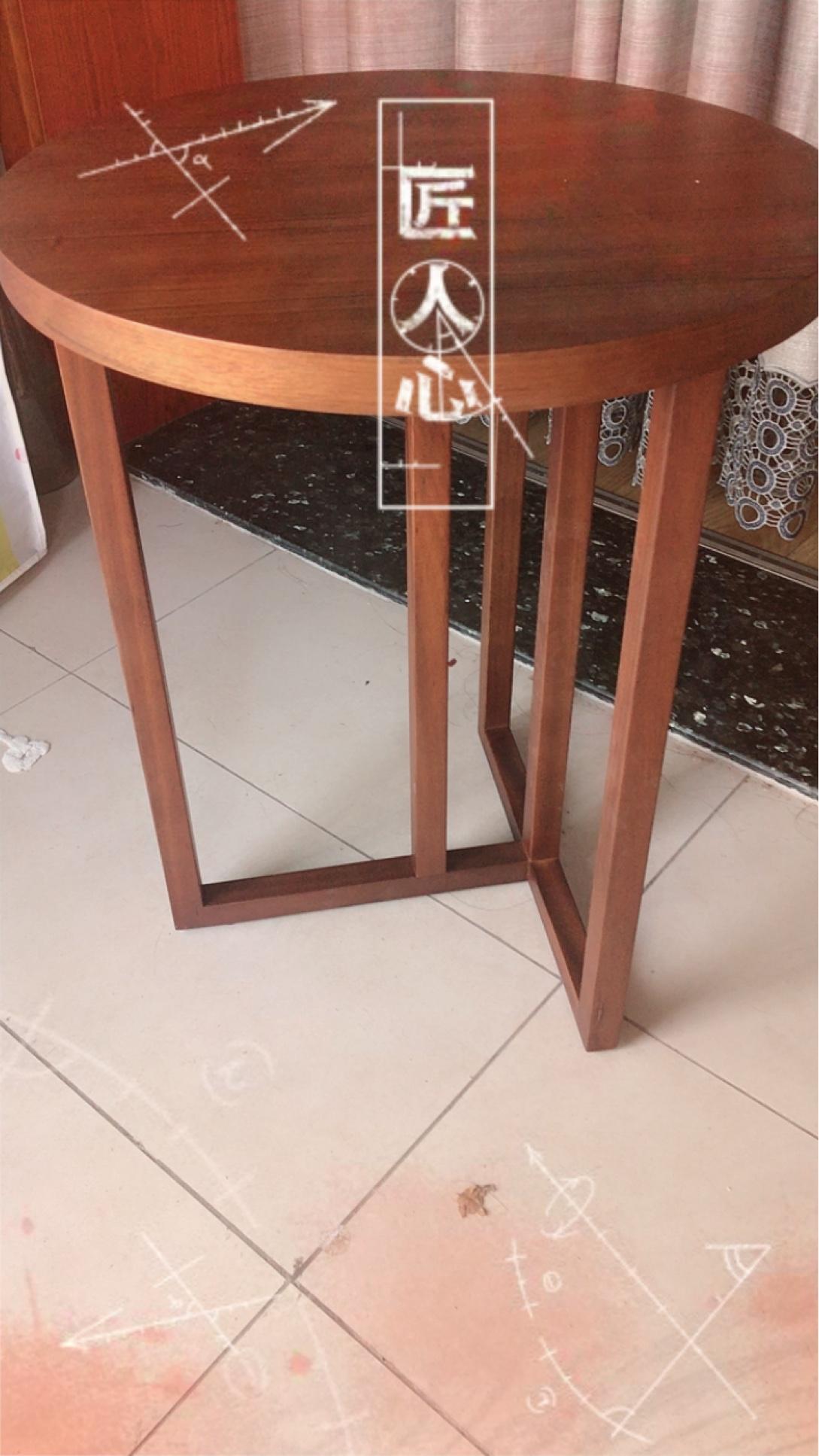 荣麟槟榔新品茶几组合新中式客厅小户型火烧石多功能茶几圆形J083