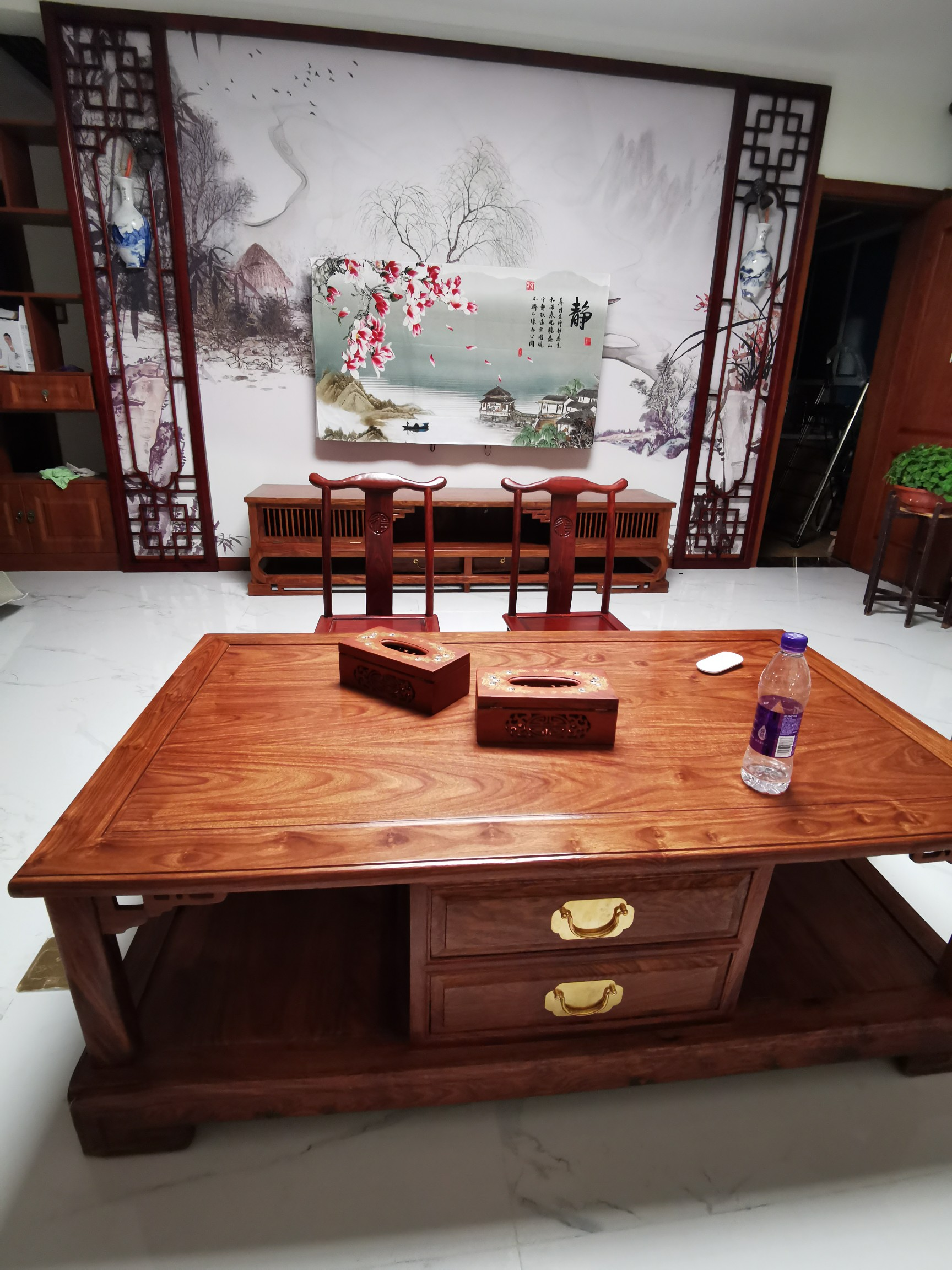 【通过官方抽检】明荣轩红木家具新中式刺猬紫檀箱体贵妃转角沙发