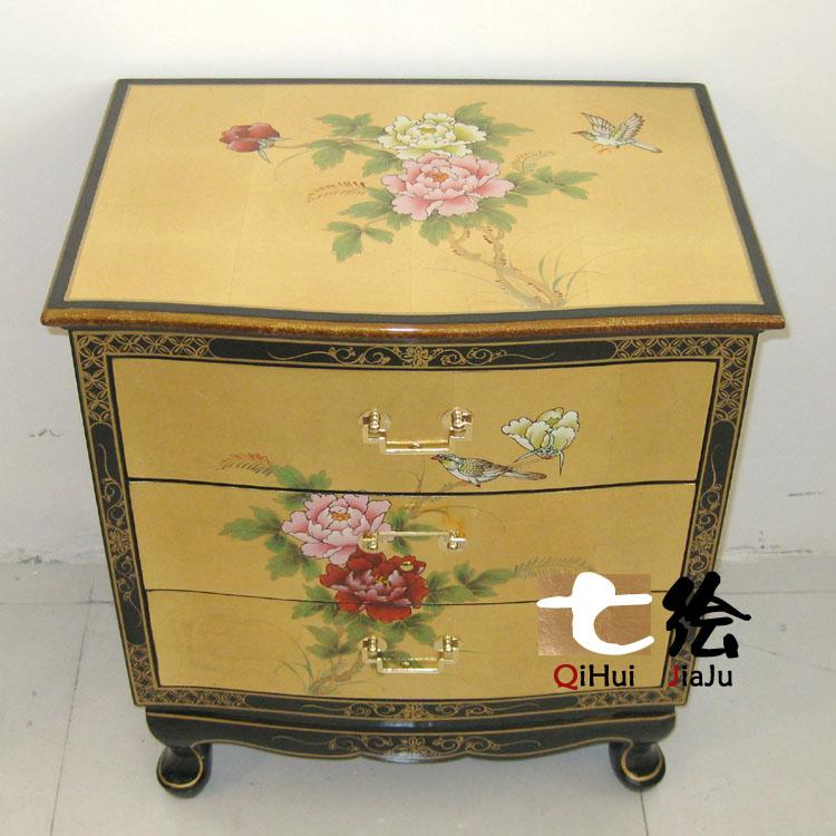 七绘现代中式家具装饰柜子q092