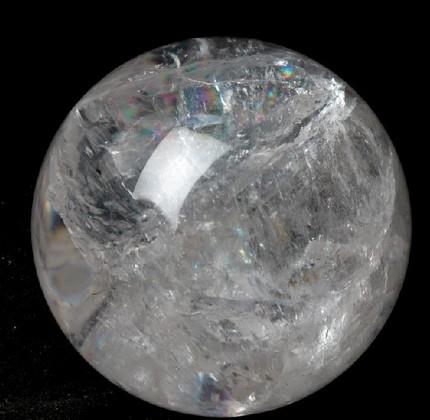 开光天然白水晶球摆件 带七彩虹光 多款尺寸20-190MM水晶球摆件