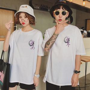 实拍8105#新款印花大码T恤情侣装(单件价格)