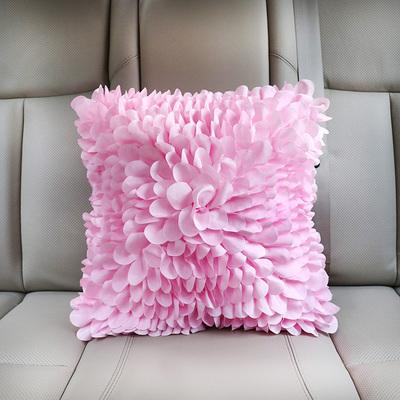原创创意汽车花瓣抱枕蕾丝个性车载抱枕靠枕靠垫可爱靠背垫腰靠