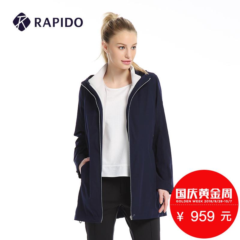 Rapido 秋季新品女士长款运动休闲外套CP7Z39J02