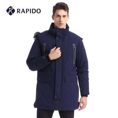 RAPIDO韩国三星 冬季新品男连帽长款运动休闲羽绒服CN7X38X18