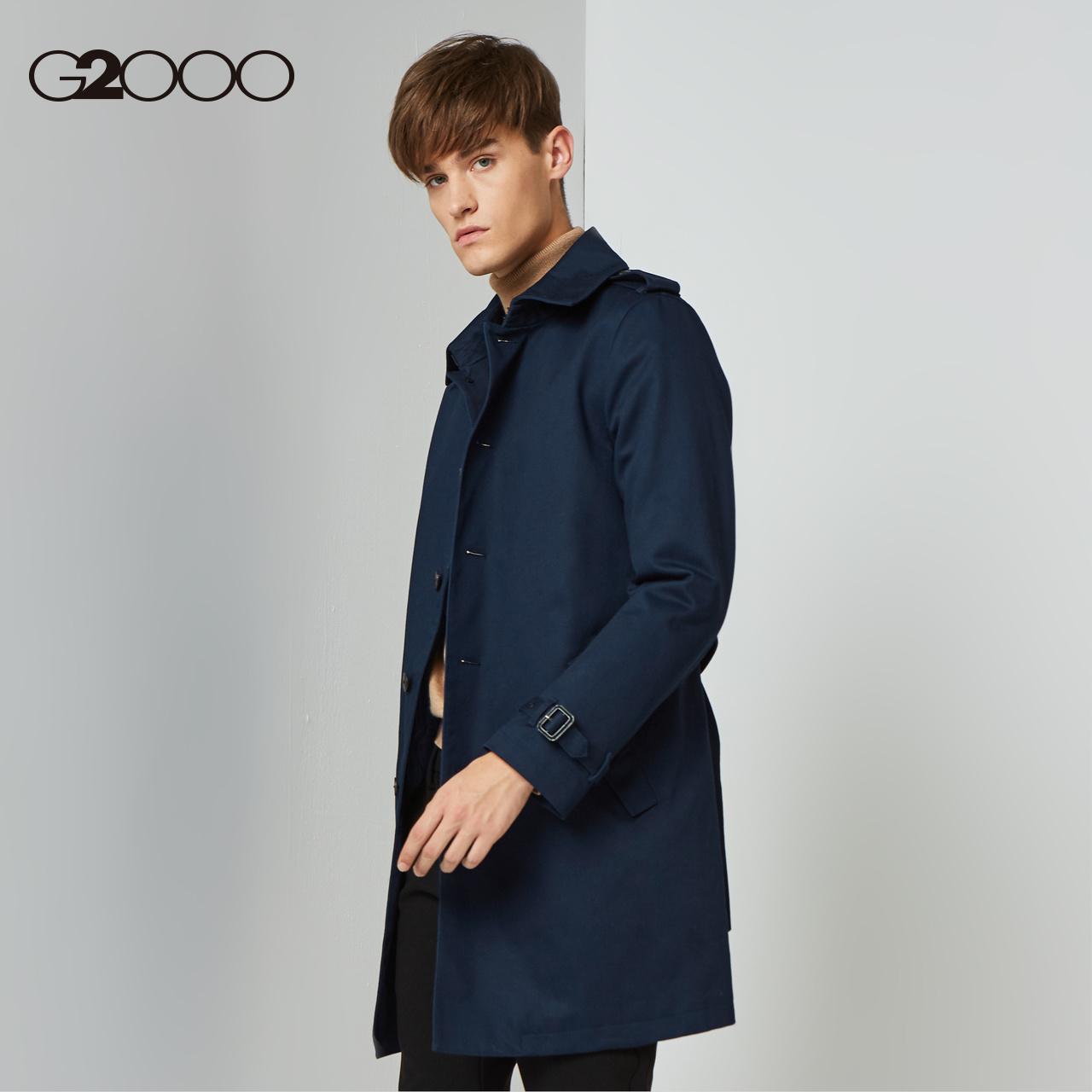 G2000男装翻领风衣中长款 2018秋冬新款3M高效保暖面料潮流外套