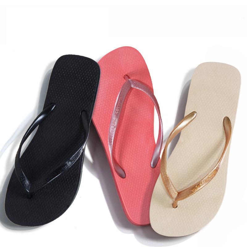 Market Maker纯色防滑人字拖女士拖鞋女夏季休闲平底夹脚平跟沙滩