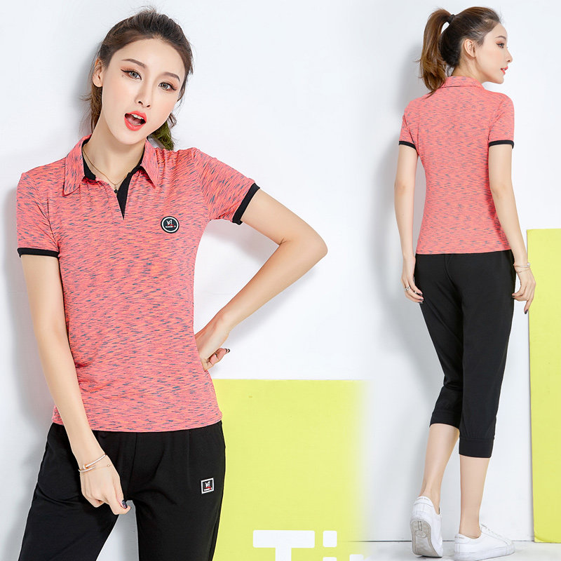 Leisure sports suit female summer 2018 new tide fashion spring clothing  summer short-sleeved pants 786447b4704a