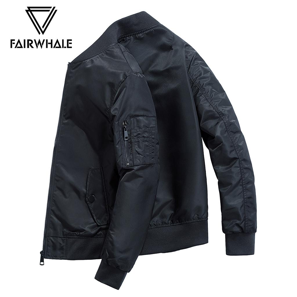马克华菲夹克男 秋季新款时尚ma1飞行员茄克棒球领运动韩版外套潮