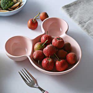 儿童餐盘 分格盘陶瓷碗卡通盘子菜盘家
