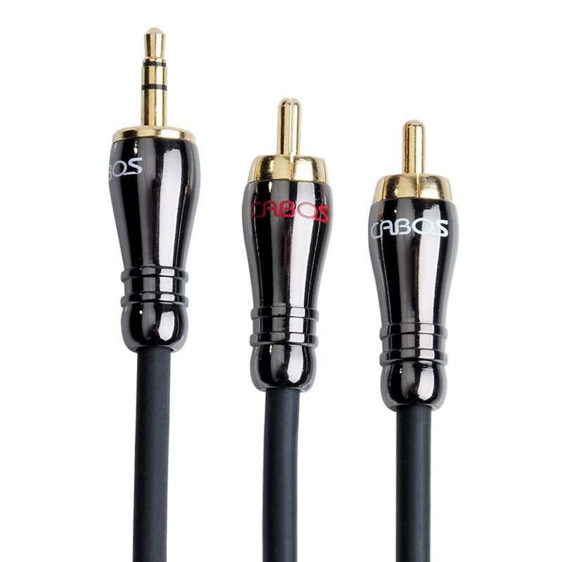 弗吉凯柏 音响线音频线一分二功放连接线3.5mm转双莲花头低音炮线