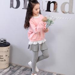 【今日特价网】童装女童秋装套装2016新款潮女宝宝衣服花边卫衣裙裤两件套韩版
